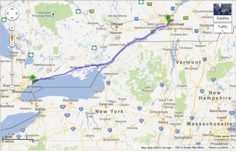 Mapped Drive to Montreal