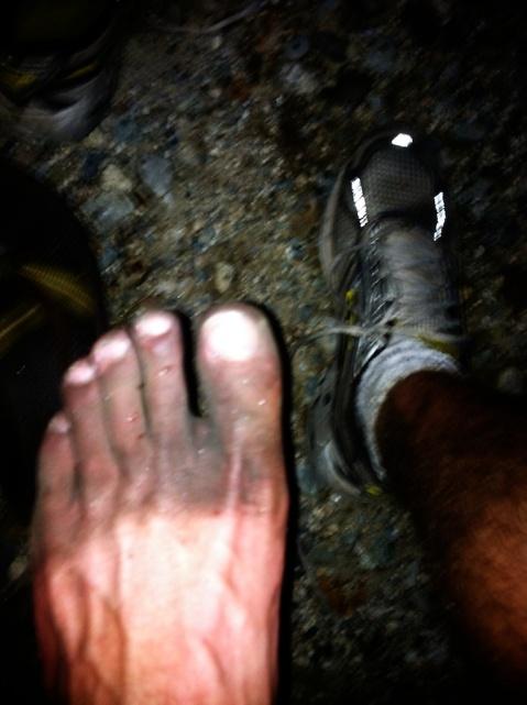 Feet after Mt Washington